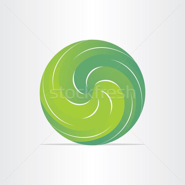 Verde eco primavera follaje emblema Foto stock © blaskorizov