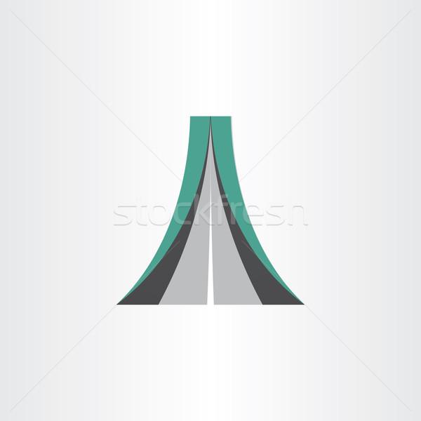 Autópálya ikon absztrakt dizájn elem út sebesség Stock fotó © blaskorizov