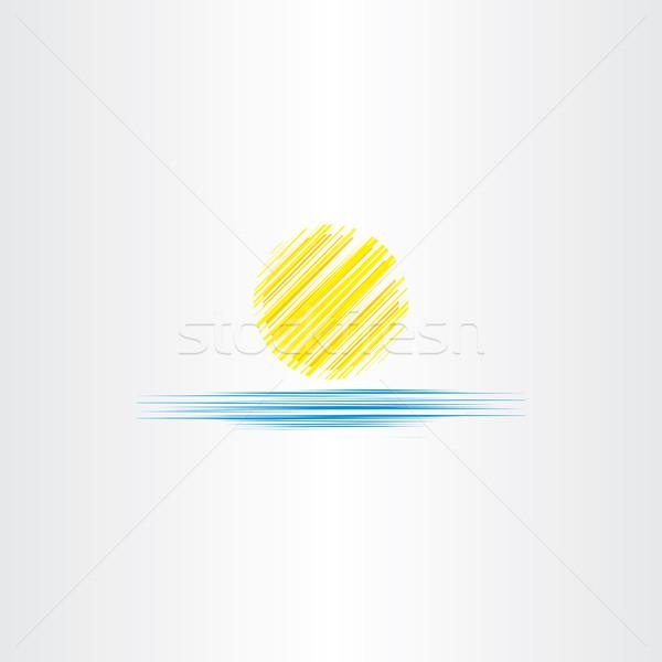 Nyár ikon nap tenger víz terv Stock fotó © blaskorizov