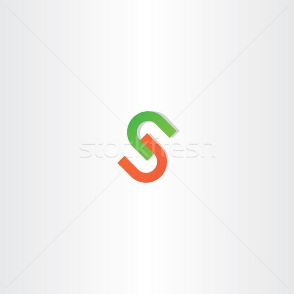 赤 緑 手紙 ロゴタイプ デザイン ベクトル ストックフォト © blaskorizov