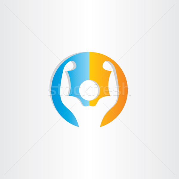 Bodybuilder icône gymnase symbole design homme Photo stock © blaskorizov
