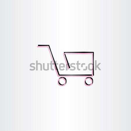 shopping cart vector icon design Stock photo © blaskorizov