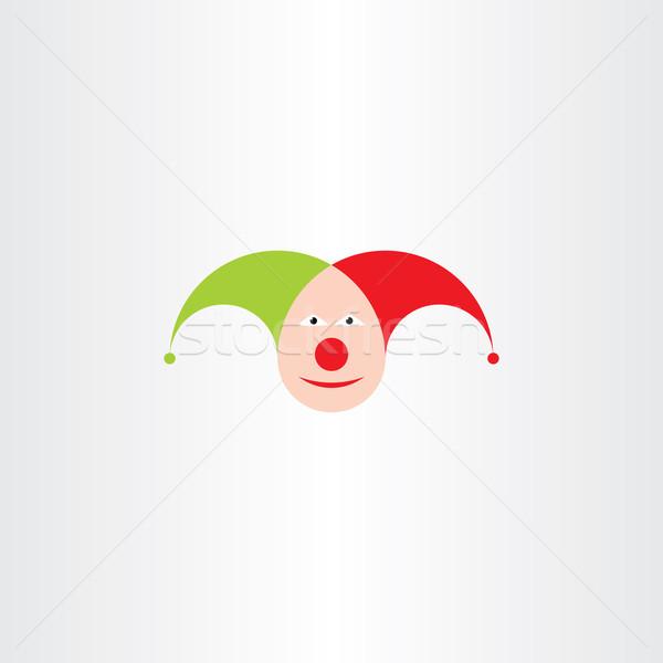 jester head vector icon symbol Stock photo © blaskorizov