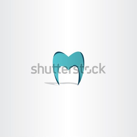 tooth icon letter m logo Stock photo © blaskorizov