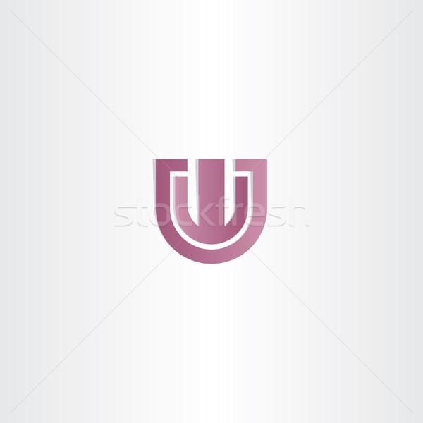 Fioletowy list w wektora podpisania Zdjęcia stock © blaskorizov