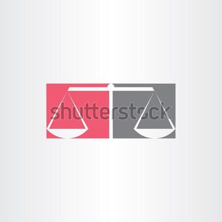 scales of justice symbol design Stock photo © blaskorizov