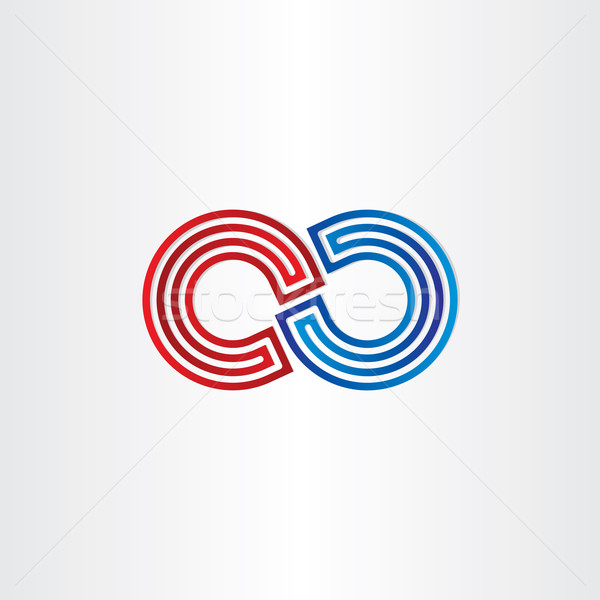 infinity symbol icon design Stock photo © blaskorizov