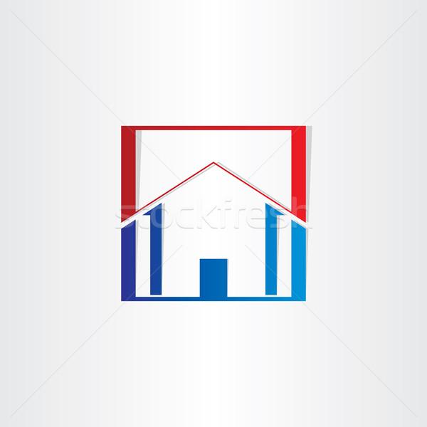 Immeuble de bureaux immobilier signe design bureau maison Photo stock © blaskorizov