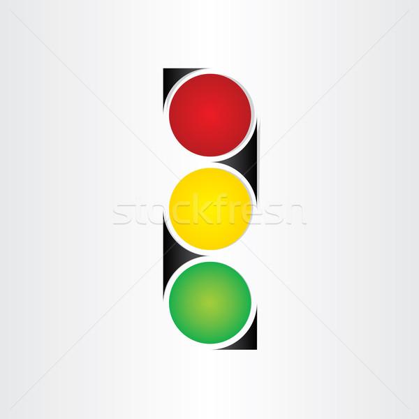 semaphore abstract traffic sign symbol Stock photo © blaskorizov