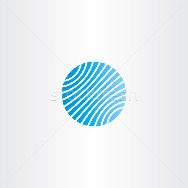 Iş logo mavi dünya vektör ikon gezegen Stok fotoğraf © blaskorizov