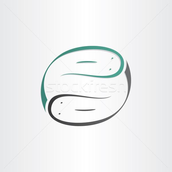Símbolo estilizado etiqueta animales peces Foto stock © blaskorizov