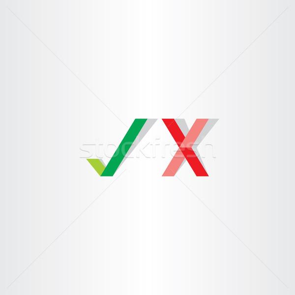 Vert rouge vecteur vérifier oui Photo stock © blaskorizov