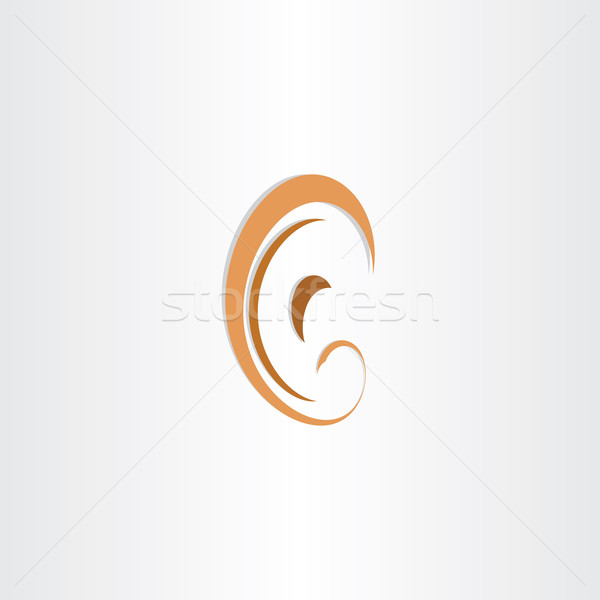human ear abstract stylized symbol Stock photo © blaskorizov