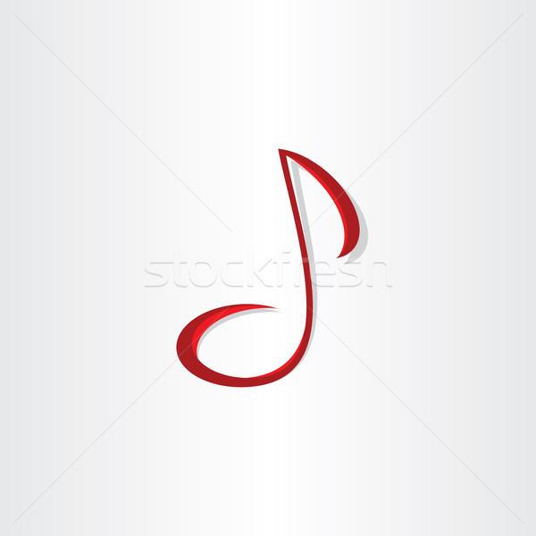 Stilizált zenei hang vektor szimbólum terv felirat Stock fotó © blaskorizov