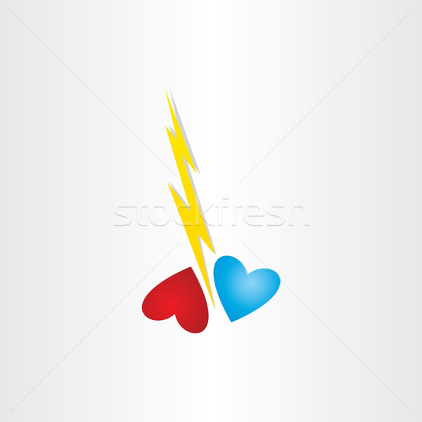 broken heart thunder divorce love hurts concept Stock photo © blaskorizov