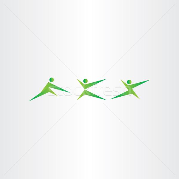 боевыми искусствами люди каратэ спорт дизайна Сток-фото © blaskorizov