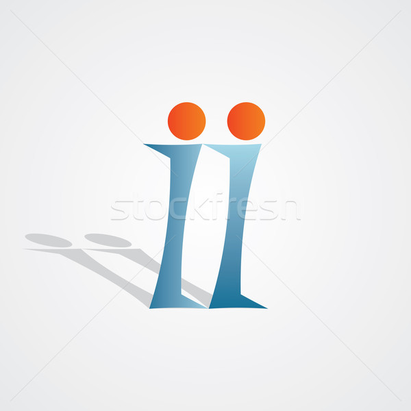 Letter i icon informatie abstract web Stockfoto © blaskorizov