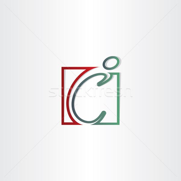 C betű férfi vonal ikon terv üzlet Stock fotó © blaskorizov