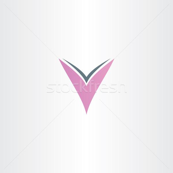 light purple letter v logotype design Stock photo © blaskorizov