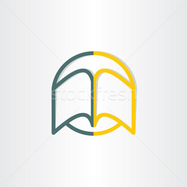 Nyitott könyv absztrakt szimbólum terv egyetem könyvtár Stock fotó © blaskorizov