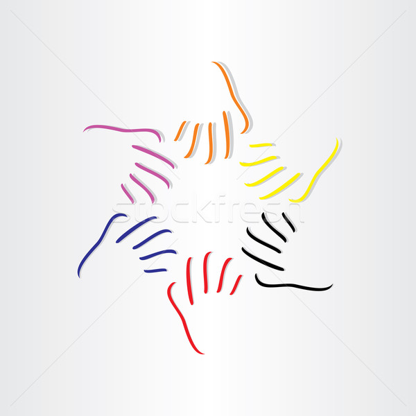 human hands all races Stock photo © blaskorizov