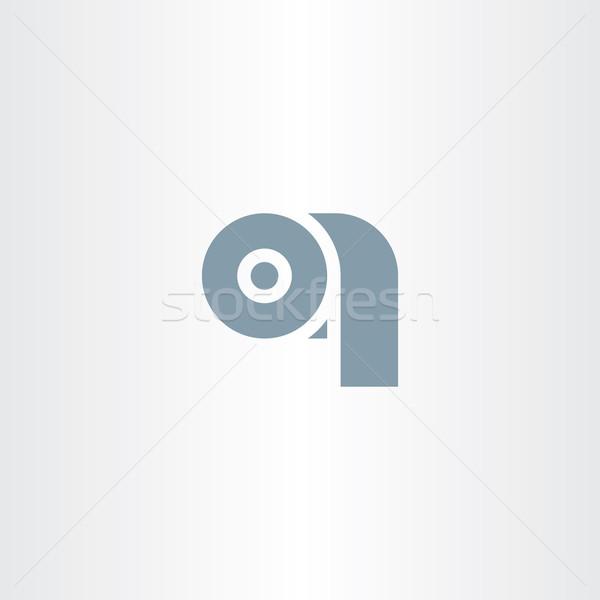 Carta igienica simbolo vettore icona design bagno Foto d'archivio © blaskorizov