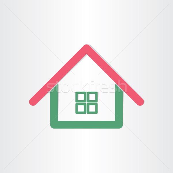 real estate house icon Stock photo © blaskorizov