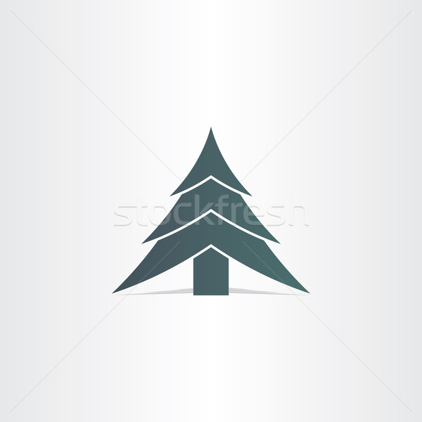 happy new year tree christmass icon Stock photo © blaskorizov