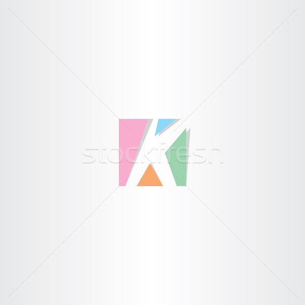 square letter k logo k icon design Stock photo © blaskorizov