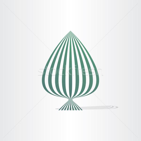Soyut hatları model ağaç Stok fotoğraf © blaskorizov
