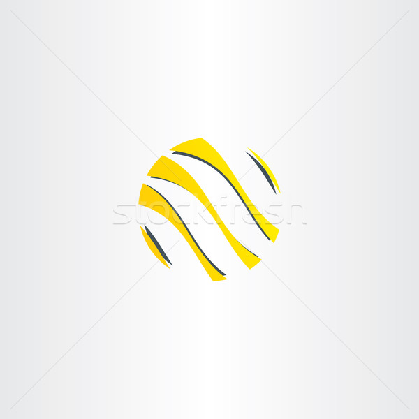 Soyut sarı siyah iş logo dünya simge Stok fotoğraf © blaskorizov