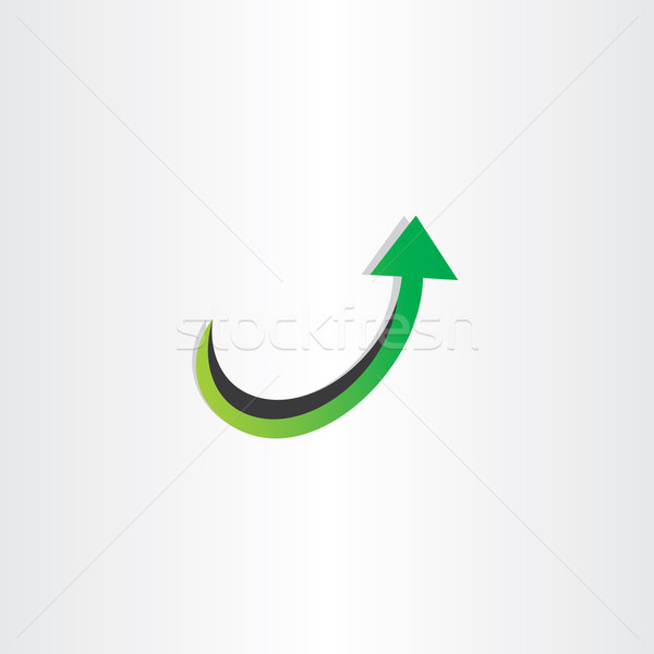 arrow up growing icon Stock photo © blaskorizov