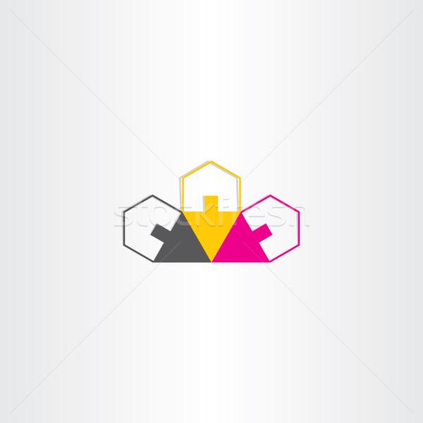 Maisons icône design vecteur maison Photo stock © blaskorizov