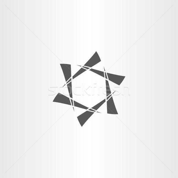 черный звездой шестиугольник аннотация бизнеса икона Сток-фото © blaskorizov