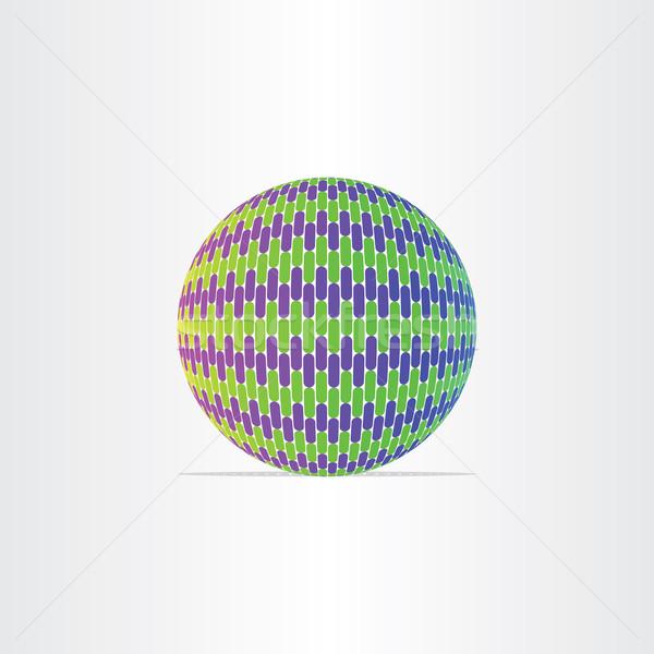 Kék zöld földgömb labda ikon háttér Stock fotó © blaskorizov