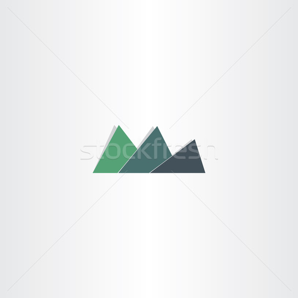 Verde montana icono resumen diseño de logotipo elemento Foto stock © blaskorizov
