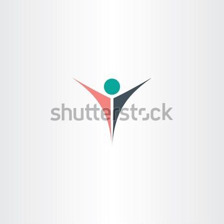 red man letter y icon Stock photo © blaskorizov