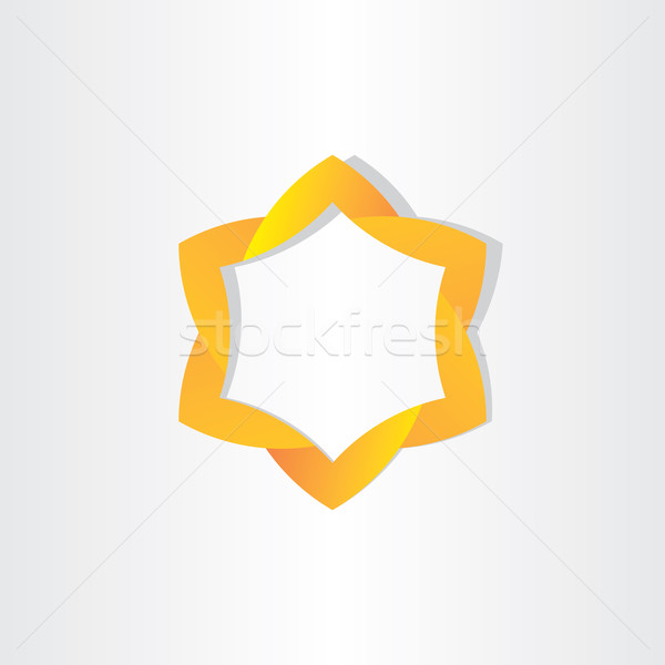 Citromsárga csillag szimbólum terv absztrakt keret Stock fotó © blaskorizov