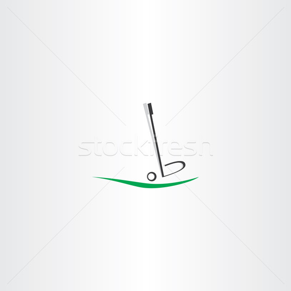 Balle de golf logo icône vecteur design golf Photo stock © blaskorizov