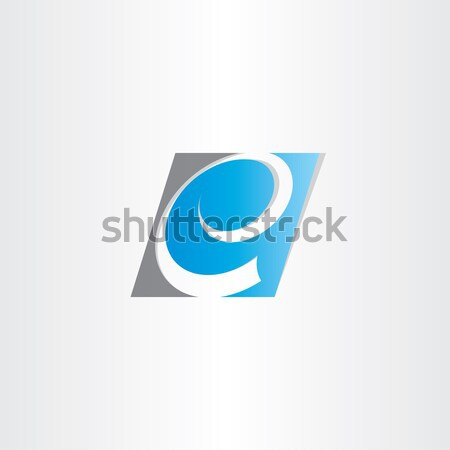 stylized letter e blue symbol Stock photo © blaskorizov