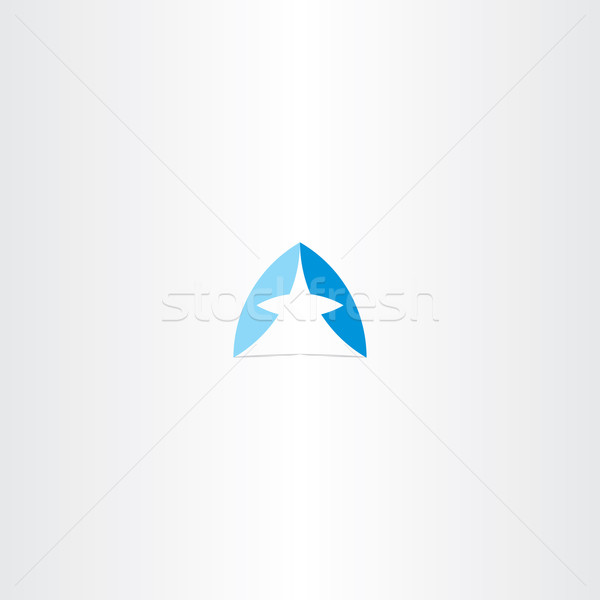 Bleu lettre design vecteur symbole Photo stock © blaskorizov