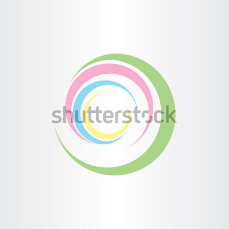 colorfull summer wave logo design Stock photo © blaskorizov