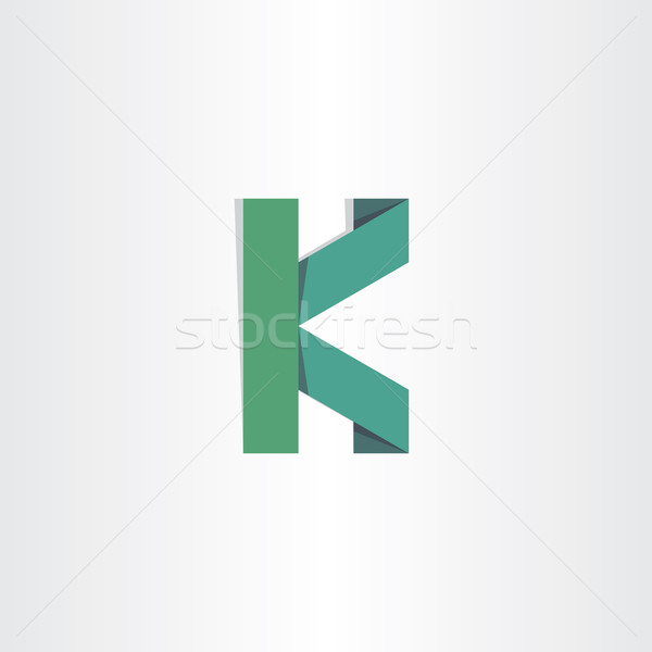 letter k green paper icon Stock photo © blaskorizov