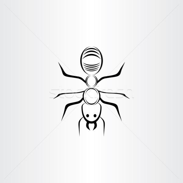 Stilizzato vettore ant simbolo design Foto d'archivio © blaskorizov
