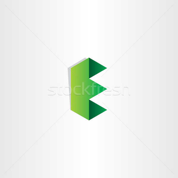 green letter e logotype design Stock photo © blaskorizov