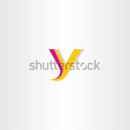 yellow magenta letter y logo Stock photo © blaskorizov