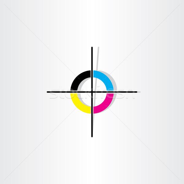 Afdrukken registratie illustratie ontwerp kleur Stockfoto © blaskorizov