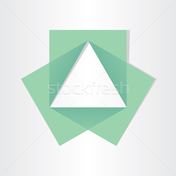 geometrical triangle with squares math symbol geometry vector ...