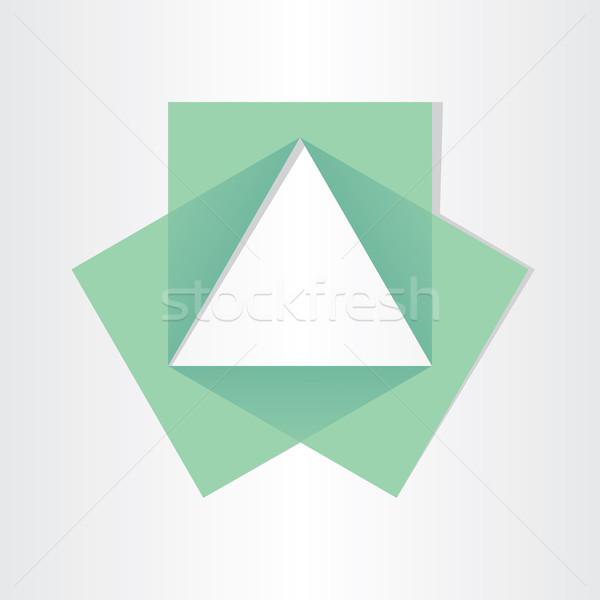 Géométrique triangle mathématiques symbole géométrie Photo stock © blaskorizov