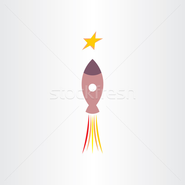 rocket travel in universe star icon Stock photo © blaskorizov